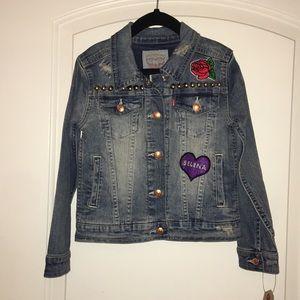Custom made kid's jean jacket